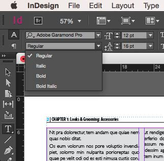pattern font indesign keyboard shortcut for making text bold in indesign cc
