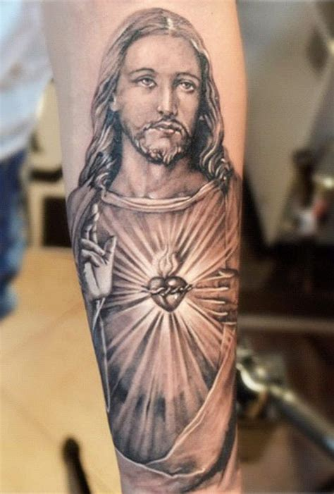 jesus arm tattoo designs 50 jesus tattoos for the faith sacrifices and strength