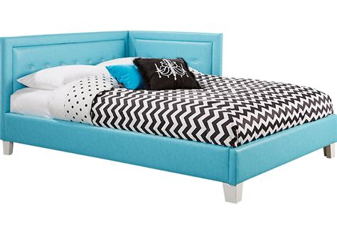 blue beds lucie blue 4 pc full corner bed beds colors