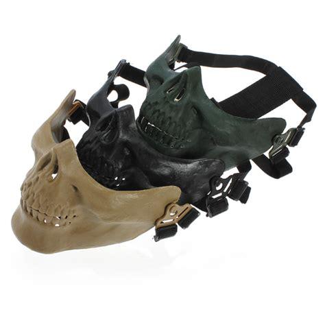 Motorcycle Ski Half Mask Masker Motor Black Murah adjustable half skeleton skull protect mask for motorcycle ski us 9 51