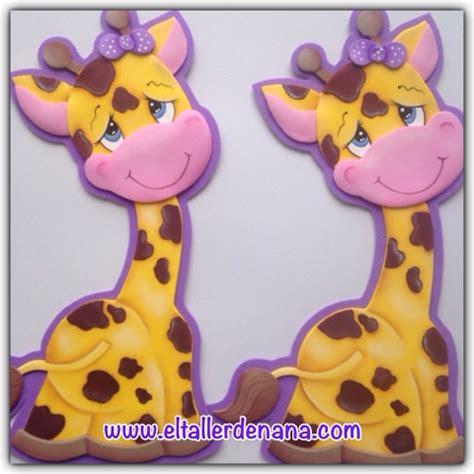 imagenes de jirafas para hacer en foami el taller de nana jirafa country en foami molde gratis