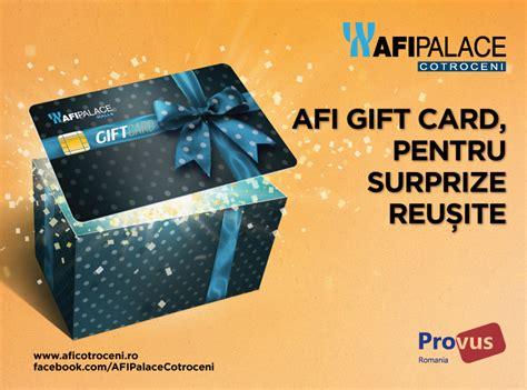 Palace Gift Card - afi palace cotroceni lansează afi gift card cea mai bună și sigură alternativă