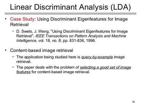 discriminant analysis research paper understandig pca and lda