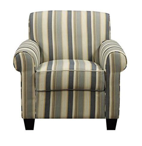 blue striped chair and ottoman portfolio mira coastal blue stripe arm chair and ottoman