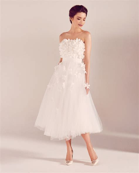 White Wedding Dresses Uk by Floral Appliqu 233 Tulle Bridal Dress White Wedding