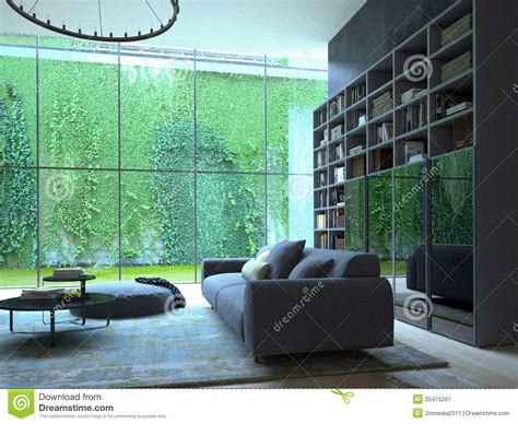 Living Room With Green Plants Living Room Stock Image Image 35475261
