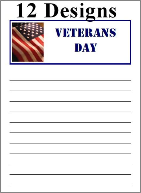 veterans day letter writing paper best photos of veterans day letter template veterans day