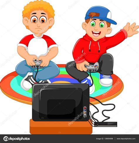 fotos niños jugando playstation lustig zwei jungs spielen playstation stockvektor