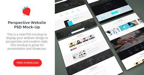 web design mock up sle perspective website psd mock up graphberry com