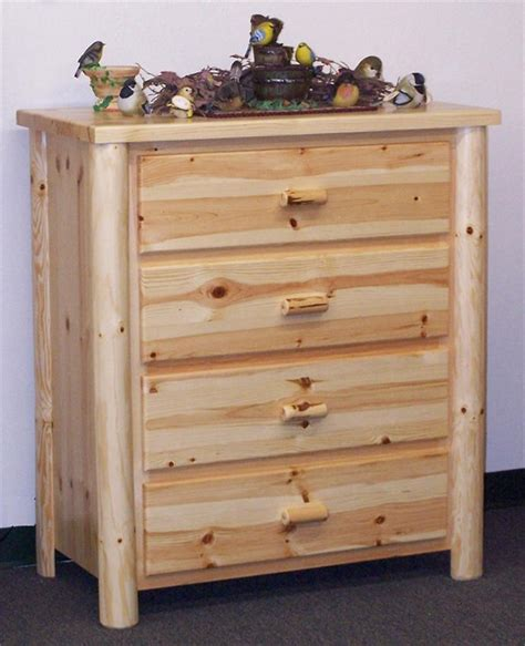 Pine Dresser by Amish Pine Four Drawer Chest Of Drawers