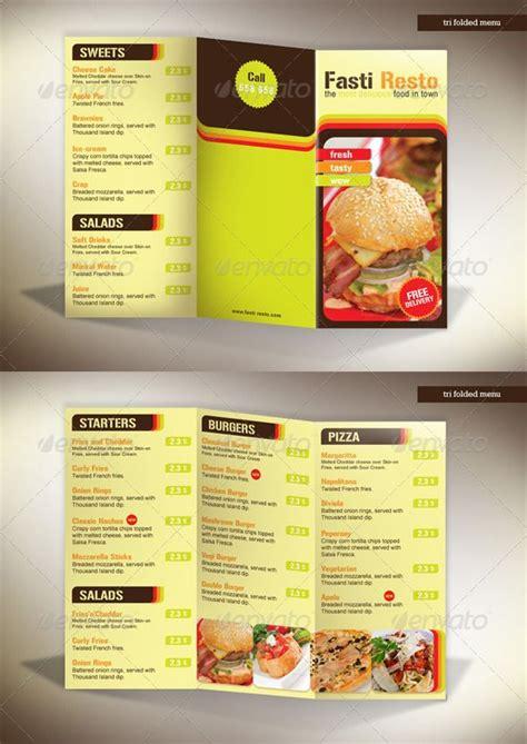 tri fold restaurant menu templates 60 premium restaurant menu templates dzineflip