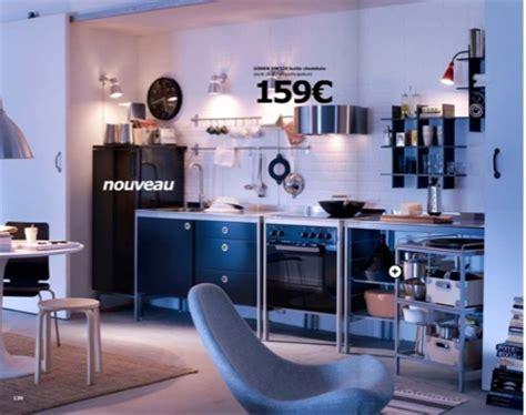 Cuisine noire esprit loft Ikea Udden
