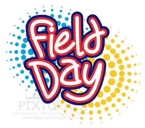 field day clip field day vector clipart comic style eps file