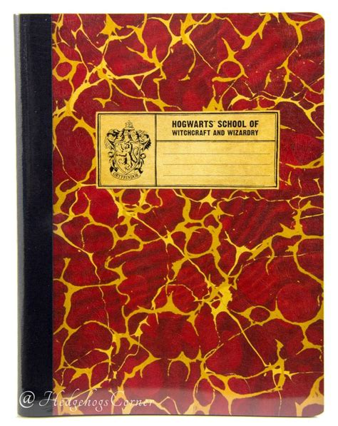 harry potter gryffindor ruled notebook books wizarding world harry potter hogwarts school composition