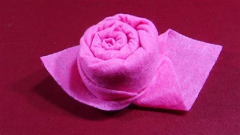 Folding Paper Roses - how to fold a paper napkin into a bud