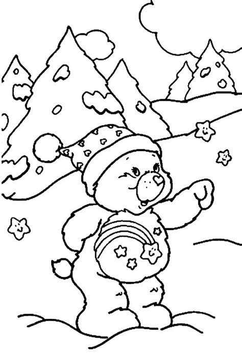winter bear coloring page care bears winter time coloring pages care bears winter