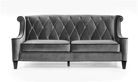 barrister loveseat armen living barrister sofa gray velvet black piping
