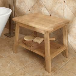 Bathroom Stool by Teak Shower Stool With Shelf Ada Compliant Shower