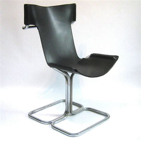 Chrome Leather Dining Chairs 60s Chrome Leather Dining Chair By Tilt Originals Notonthehighstreet