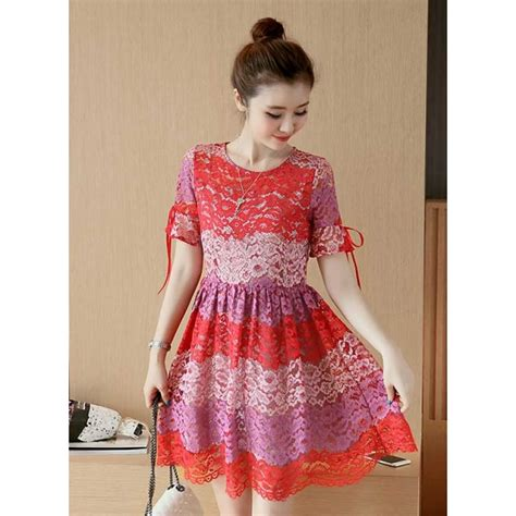 Dress Brukat Korean dress brukat korea d3282 moro fashion