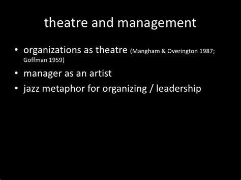 Mba Mfa Theatre Management by Improvisational Theatre In Management Education Exploring