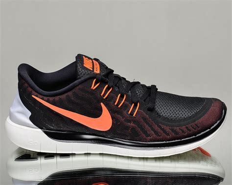 new nike athletic shoes new mens nike free 5 0 black hyper orange athletic running