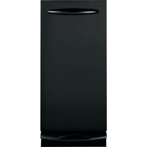ge profile 15 in built in trash compactor in stainless ge profile 15 in built in trash compactor in black