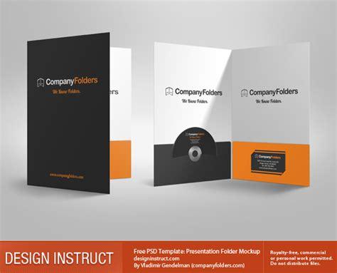 pocket folder design template free 3d presentation folder psd mockup