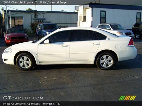 2007 chevrolet impala lt white 2007 chevrolet impala lt neutral beige interior