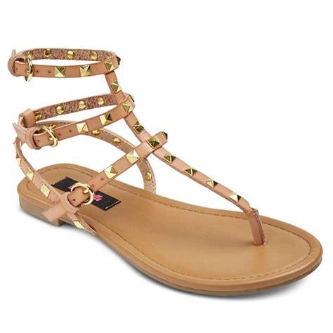 stud sandals s betseyville pyramid stud gladiator sandals target