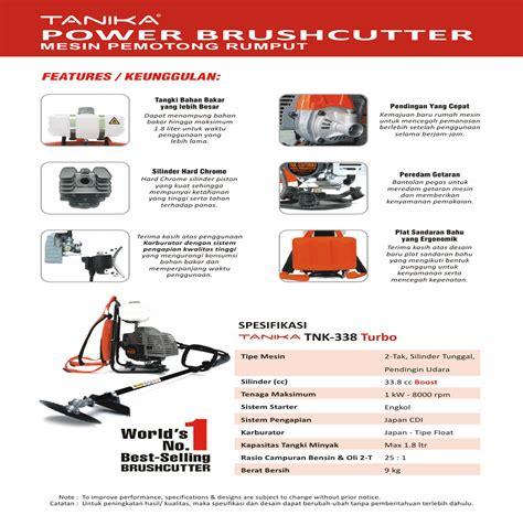 Komponen Mesin Potong Rumput harga jual tanika tnk 338 turbo mesin potong rumput gendong