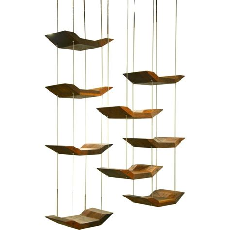 adjustable hanging shelves by zanini de zanine at 1stdibs