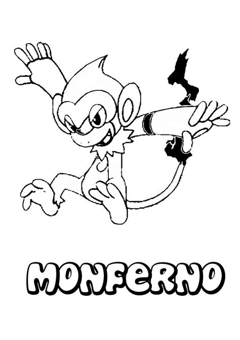 pokemon coloring pages that you can print pokemon coloring pages you can print out this monferno page