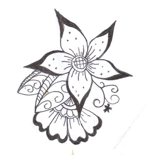 simple tattoo art designs flower henna designs henna flower 2 by komekoro on