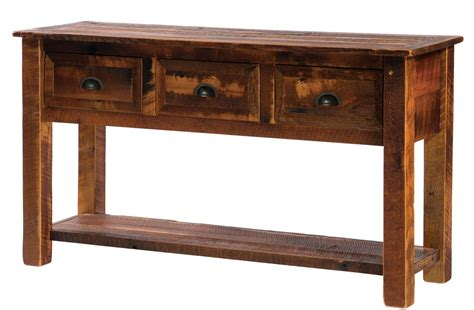 Console Table With Drawers And Shelf by Barnwood 3 Drawers Console Table With Barnwood Legs