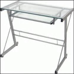 small glass desk computer desks for small spaces
