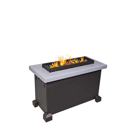 Monterey Propane Pit endless summer 41 in hex lp pit with slate tile and wrought iron panels gad1352sp the