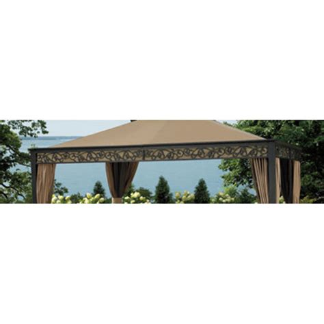 living home gazebo bjs living home outdoors 10 x 12 gazebo replacement canopy