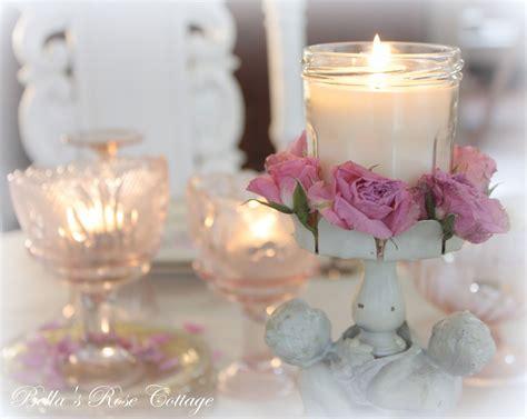 candele shabby chic shabby chic candle arrangement shabby chic