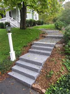Wooden Handrails For Stairs Entrances And Steps Landscaping In Ma Natural Path