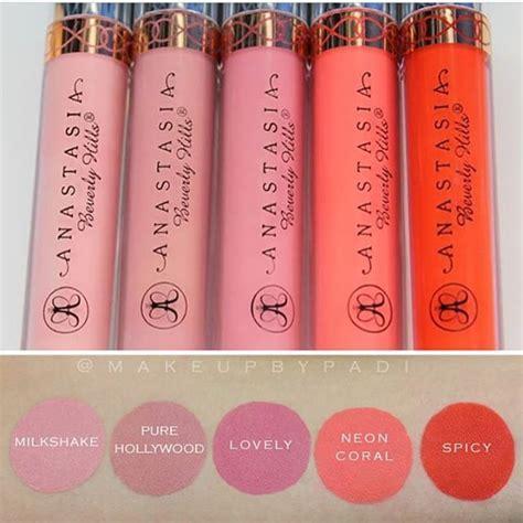 anastasia beverly hills liquid lipstick in crush swatches best 25 coral lipstick ideas on pinterest mac lipstick