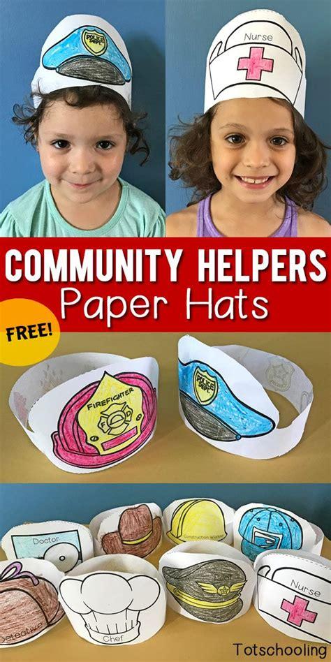 Paper Hats For Preschoolers - best 25 community helpers ideas on