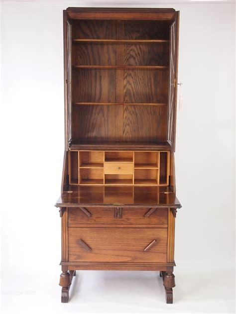 Oak Art Deco Bureau Bookcase Antiques Atlas Deco Bookshelves