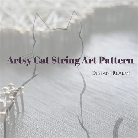 string pattern validation cat string art pattern and instructions elegant cat