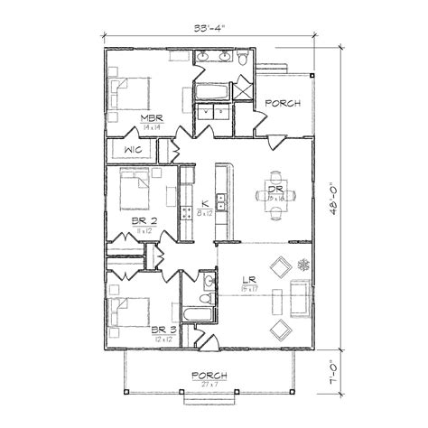 single floor plan single story open floor plans small bungalow floor plans