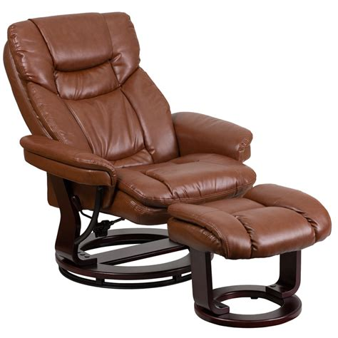 contemporary leather recliners with ottoman contemporary brown vintage leather recliner and ottoman