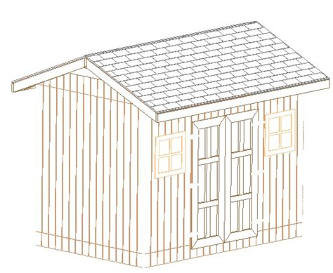 Slant Roof Shed Plans gable shed plans 8x12