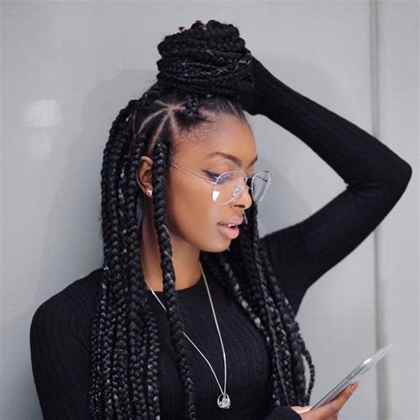 Big Braids Hairstyle by Best 20 Big Box Braids Hairstyles Ideas On