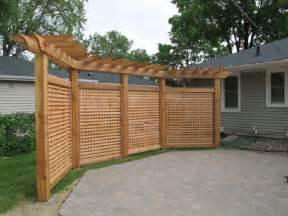 Pergola Screens by Lattice And Pergola Fence To Block Shed Add Some Privacy