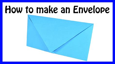 How To Make An Envelope From A Sheet Of Paper - how to make an envelope